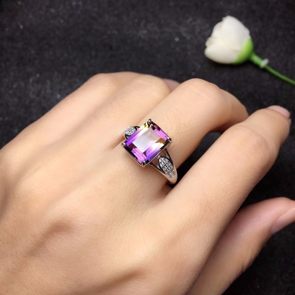 HTB19y.DaZ vK1RkSmRyq6xwupXa4 - Natural Amethyst Rectangle Rings for Women 925 Sterling Silver Fine Jewelry