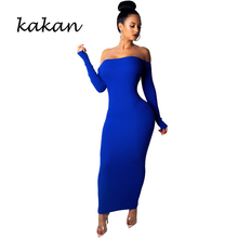 Kakan 2019 spring new womens dress fashion sexy backless sapphire blue red black