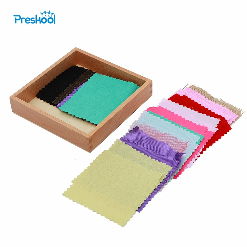 Baby Toy Montessori Fabric Box Sensorial Colorful Cloth Original Early Childhood Education Preschool Kids Brinquedos Juguetes