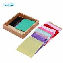 Brinquedo do bebê montessori tecido caixa sensorial colorido pano original educação infantil pré escolar crianças brinquedos juguetes