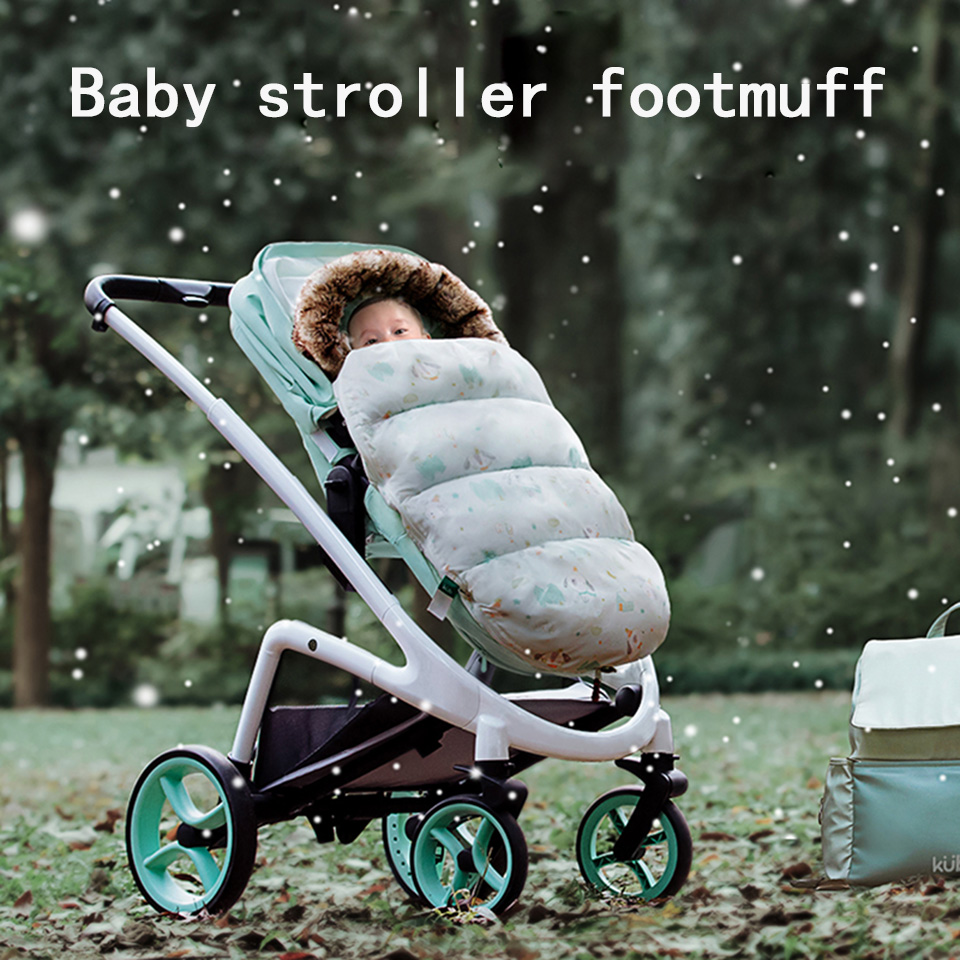 Baby Stroller Down Sleeping Bag Stroller Accessories For Baby Universal Stroller Footmuff Warmly Sleep Sock Thick Pram Footcover
