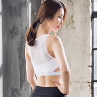 High Stretch Breathable Sports Bra Top Fitness Women Padded Sport Bra For Running Gym Crop Bra