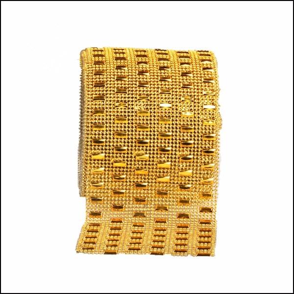Free Shipping 10Yards/Roll Gold/Silver Wedding Diamond Rhinestone ...