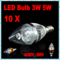 10pcs/lot led candle lamp bulb E12 E14 E27 B22 110V220V230V240V 3W5W Led 90-100lm/W White/Warm  Energy Saving Light 9W 15W