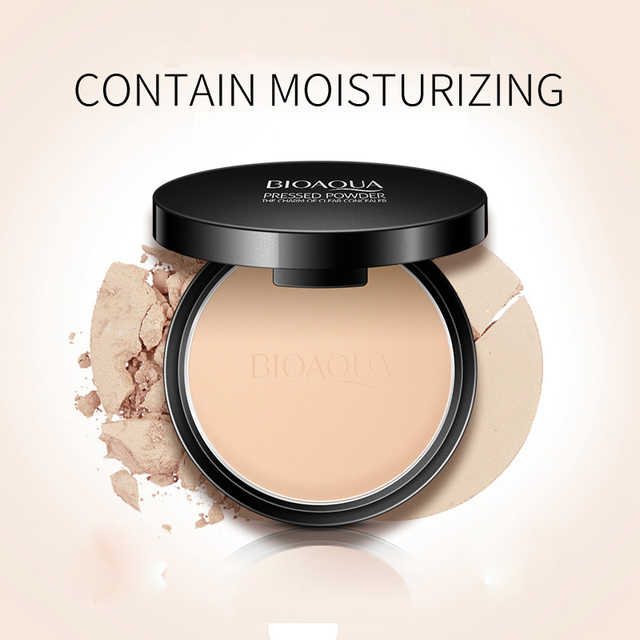 Matte Pressed Powder Makeup Concealer Oil-control Face Setting Foundation Facial Make Up Mineral Compact Powder Cosmetics 4