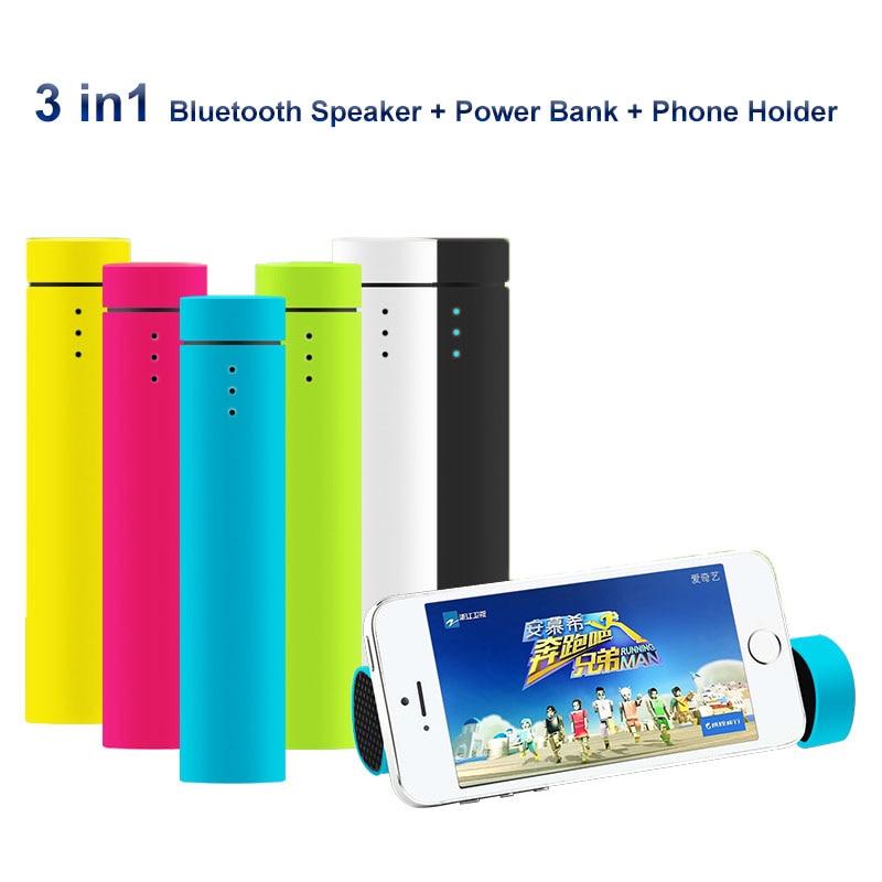 4000 MAH Banco Portable Mini Altavoz Bluetooth Multifunción 3 En 1 Altavoz Inalá