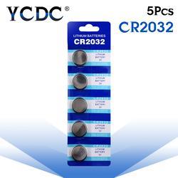 5 шт./упак. CR2032 батарейки BR2032 DL2032 ECR2032 ячейки монета литиевая Батарея 3 В CR 2032 для часы электронные игрушки дистанционного