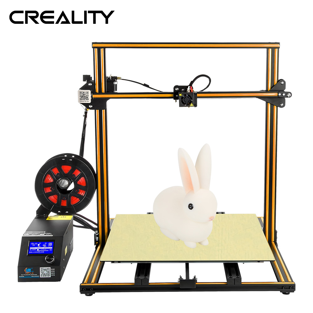 Plus size Creality 3D Printer CR 10S S4 S5 Open Build With Dua Z Rod Filament Sensor/Detect Resume Power Off 3D Printer DIY Kit-in 3D Printers from Computer & Office    2