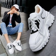 Brand 2019 ladies shoes platform shoes sneakers women spring autumn shoes for women flats lace up breathable sport casual