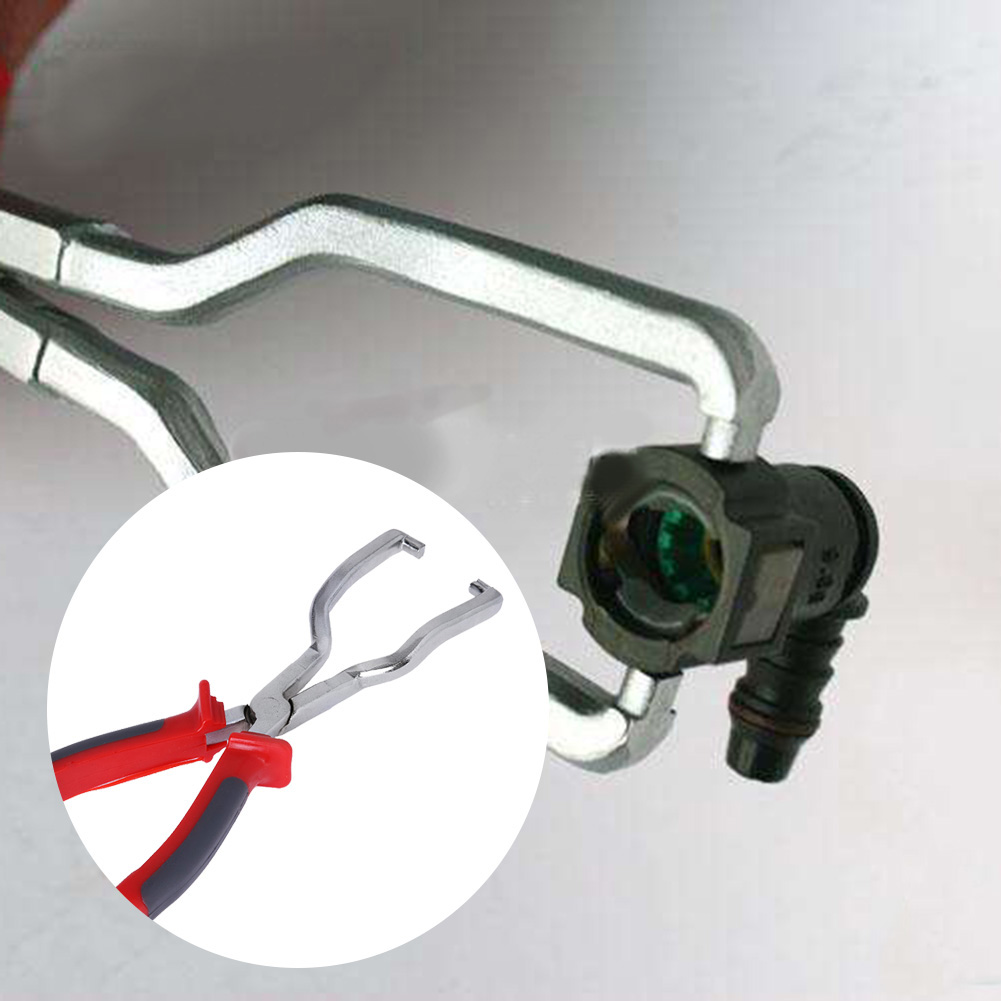 Filter Calipers Rubber Handle Fuel Hose Pipe Buckle Removal Pliers Fuel Filter Caliper Fits For Gasoline Pipe Fittings