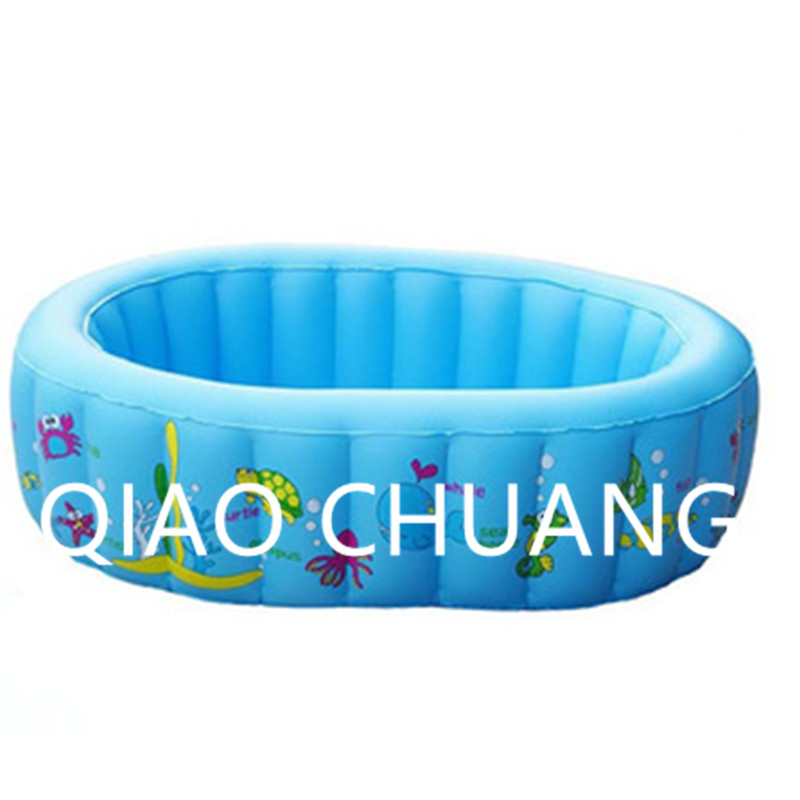 Baby Paddling Pools Oval Inflatable Bath Tub PVC Thicken Cartoon Printing Swimming Pool G978
