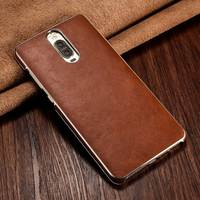 XOOMZ for Huawei Mate 9 Pro Genuine Leather Case Ultra Slim Luxury Gold Plated Mobile Phone Cases Magnet Adsorption Back Cover