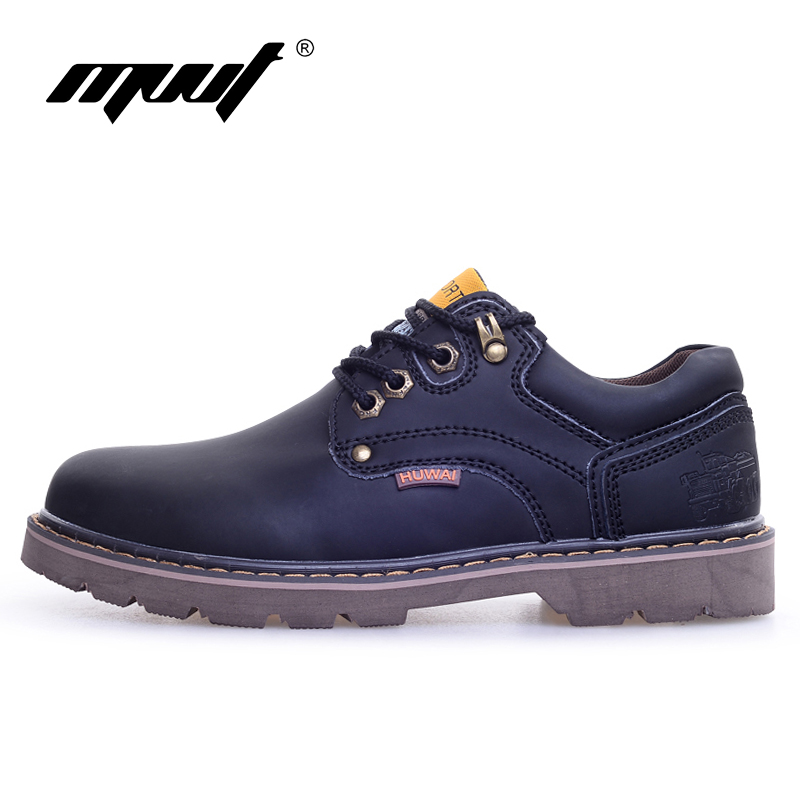 Genuine Leather Men boots Classic Ankle work Boots Nubuck leather Men - Men's Shoes - Photo 3