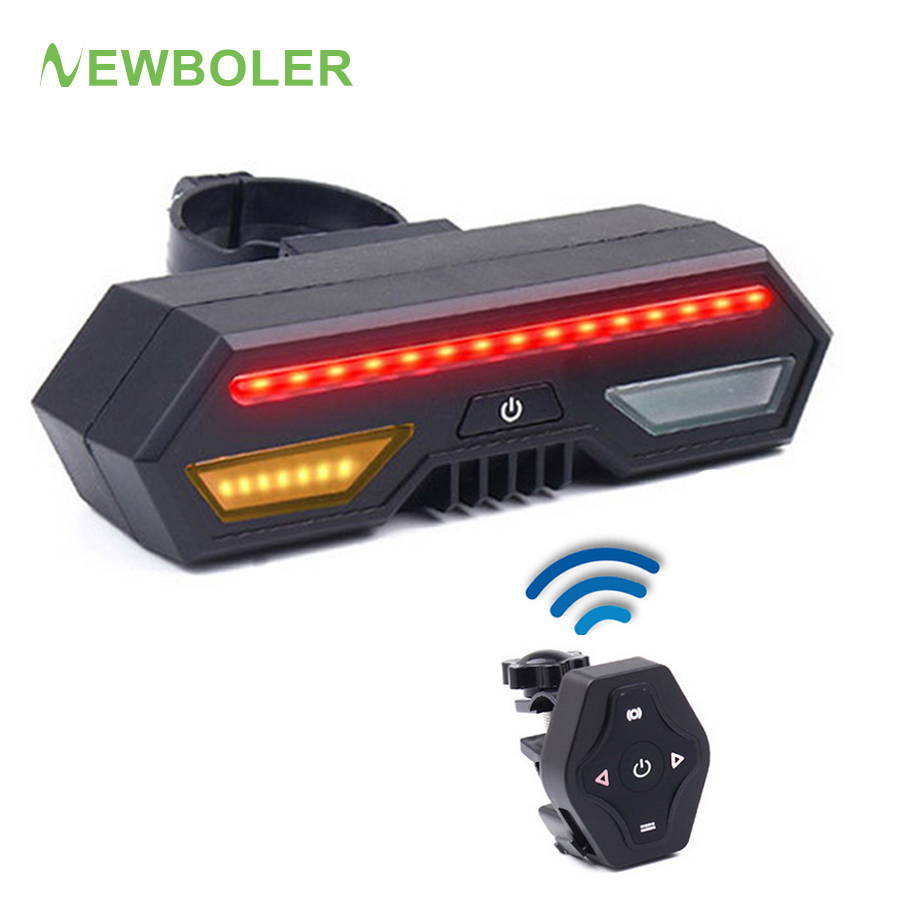 Newboler 2200 Mah Led Tail Light For Bicycle Usb Smart Wireless Remote Control Turn Signals Waterproof Bike Warning Rear Lights In From Sports