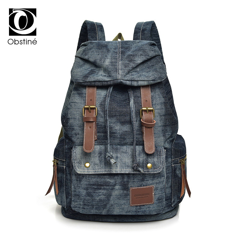 цена на Classical Women Denim Backpack Unisex Back Pack Bags Woman 2018 Canvas Backpacks Girl School Cool Bagpack for School Female Male