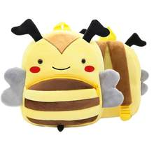 Toddler Kids Backpack Plush Cartoon Satchel Bag Light Children Shoulder Bag Plush Backpacks Stuffed Animals Plush Hobbies (Bee)(China)