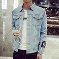 Plus Size M-5XL 2016 homens Jaqueta Jeans de alta qualidade da moda Jeans Casacos Magro casual streetwear Do Vintage jeans Mens roupas