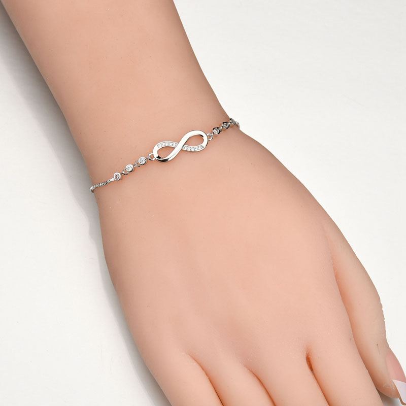 3750d266d Aliexpress.com : Buy Luxurious Crystal Bracelet Silver Color Adjustable  Infinity Charm Pandora Bracelets for Women Fashion Jewelry Dropshipping  from ...