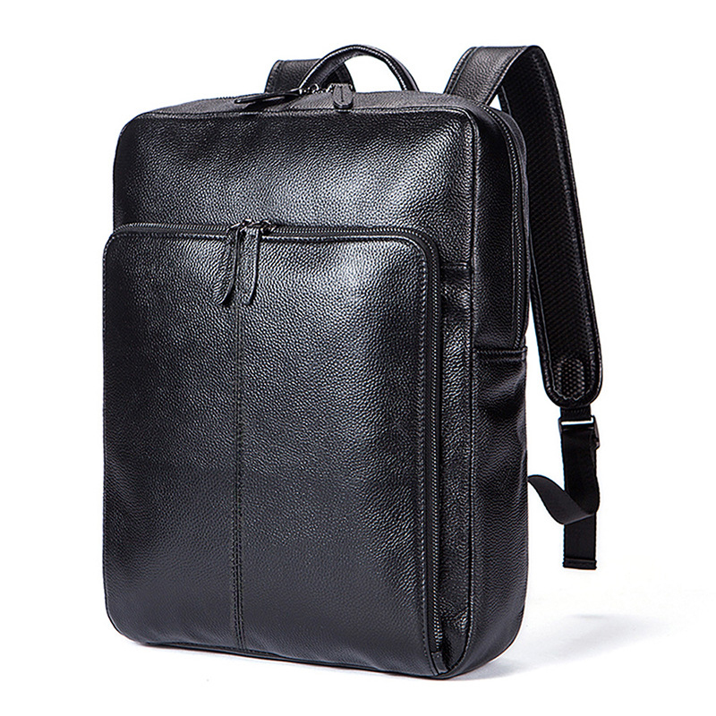 New Cow Genuine Leather Men Backpacks Fashion Real Natural Leather Student Backpack Boy Luxury Brand Lager Computer Laptop Bag pwm new viewstar series solar battery charge controller vs4548bn 45a 45amp epever epsolar 12v 24v 36v 48v auto work