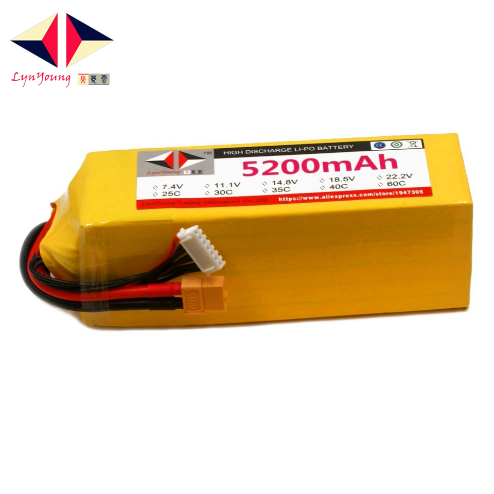 HX <font><b>Lipo</b></font> Battery <font><b>6S</b></font> 22.2V <font><b>5200mah</b></font> 25C 30C 35C 40C 60C For RC Drone Quadcopter Helicopter Airplane Boat Car image
