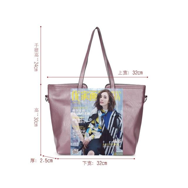 solid 3 pcs/set PU leather shoulder strap bag women 2018 New high quality crossbody bags Ladies fashion small clutch bag 3