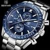 BENYAR 2018 جديد رجال الأعمال ساعة كاملة الصلب كوارتز العلامة التجارية الفاخرة الرياضة مقاوم للماء عادية ذكر ساعة اليد Relogio Masculino