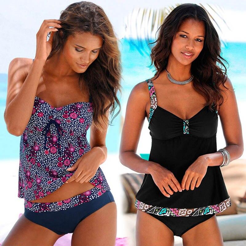 Swimwear 2020 Sexy Swimsuit Women Plus Size Tankini Sets Swim Vintage Beach Wear Bathing Suits Female Bandage Monokini Swim Suit 1