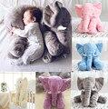 Baby Long Nose Elephant Doll Pillow Soft Plush Stuff Toy Lumbar Pillow Children Sleep Pillow Gray Pink Blue Yellow Free Shipping