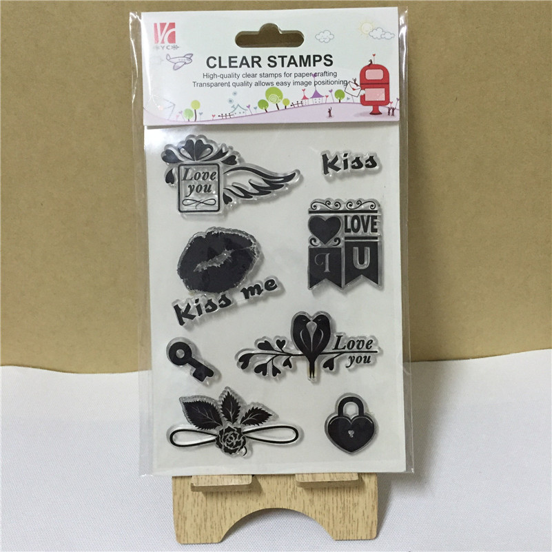 Kiss me I love you Silicone Transparent Clear Stamp Seal for DIY scrapbooking photo album stamp craft OO-081 страпон toyz4lovers черный bestseller 2 for me 1 for you