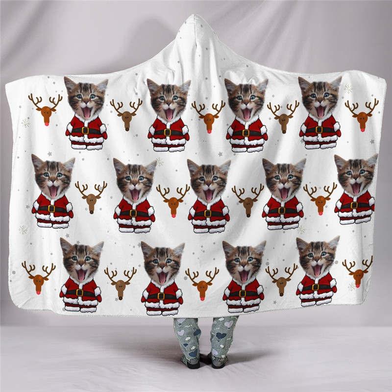 Custom-cat-santa-blanket