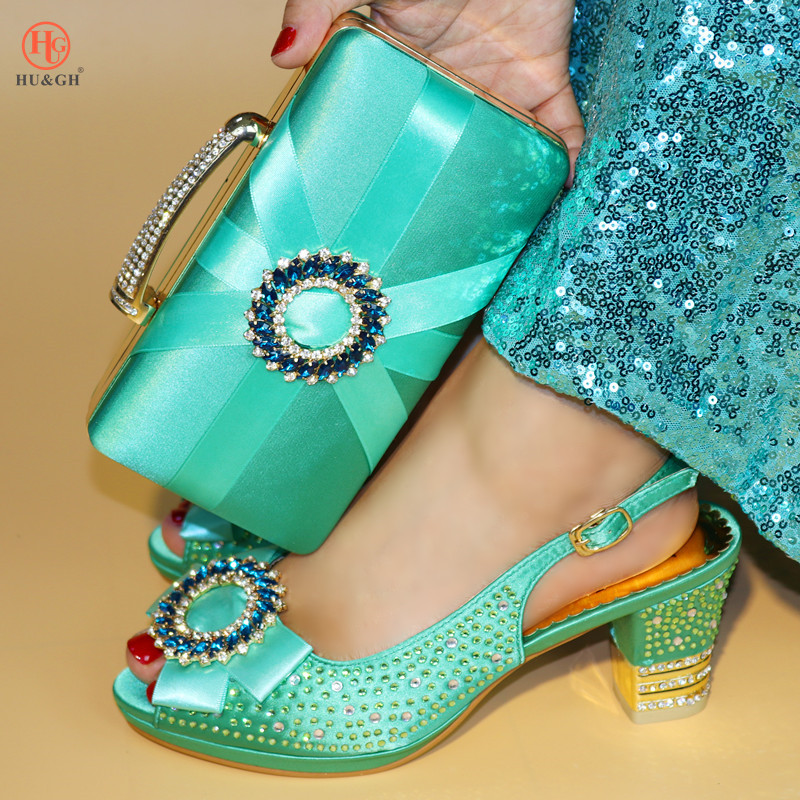 цена на Summer African Women Matching Italian Design Shoe and Bag Set for Wedding Italian Shoes with Matching Bag Italy 37-42 High Heels
