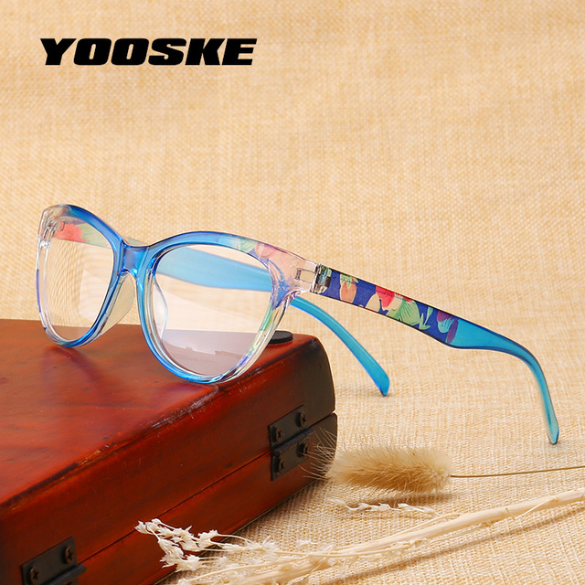 YOOSKE Unbreakable Reading Glasses Men Women Ultralight PC Frame Toughness Presbyopic Eye Glasses with Diopter Anti Fatigue Lens