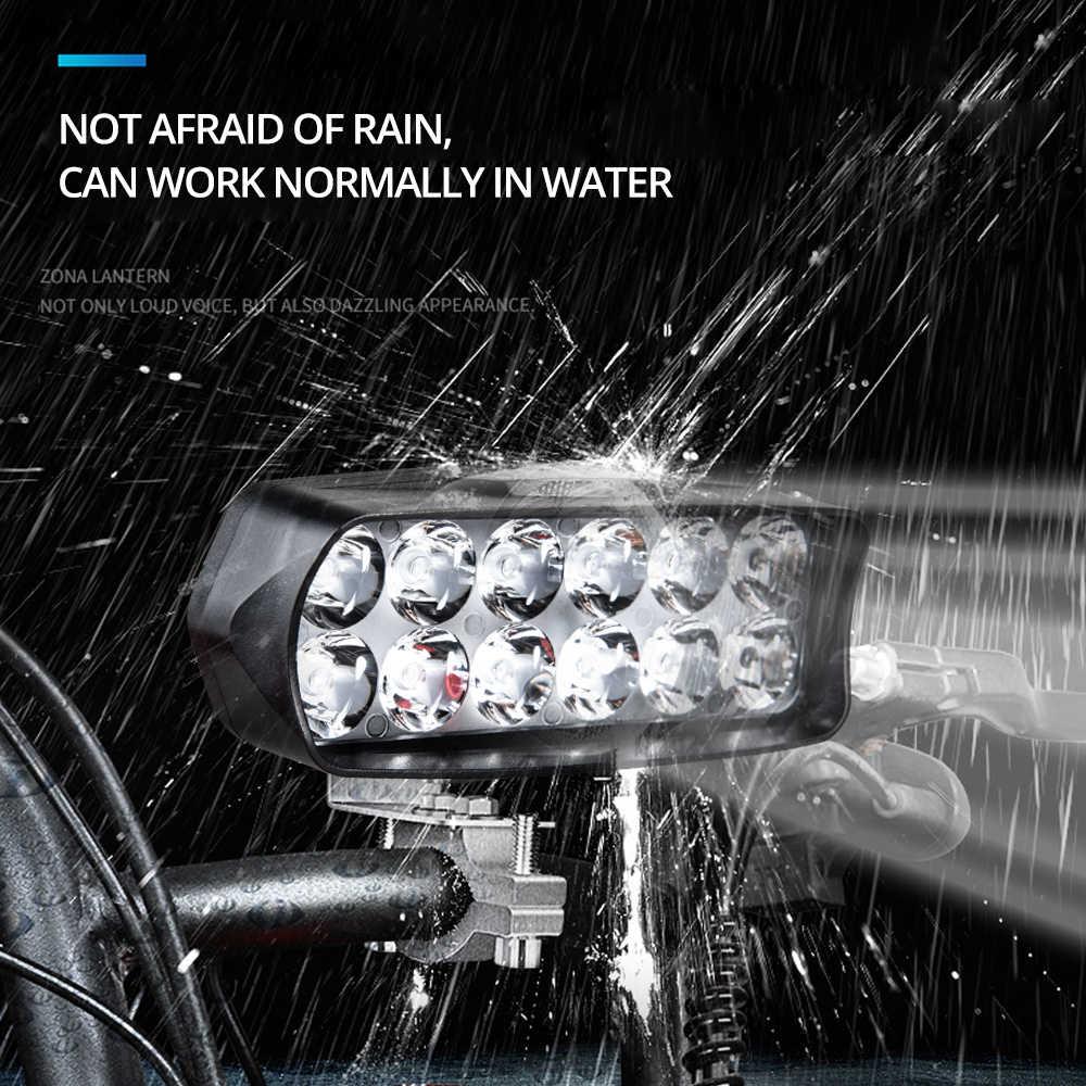 Universal Motorcycle Headlight LED 12W 18W 24W DC 9-85V LED Headlight Motorbike 8 12 16LEDs Samsung Chip Work LED Headlights