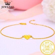 BTSS 24K טהור זהב צמיד אמיתי 999 מוצק זהב צמיד יוקרתי יפה רומנטי טרנדי תכשיטים קלאסיים חם למכור חדש 2020