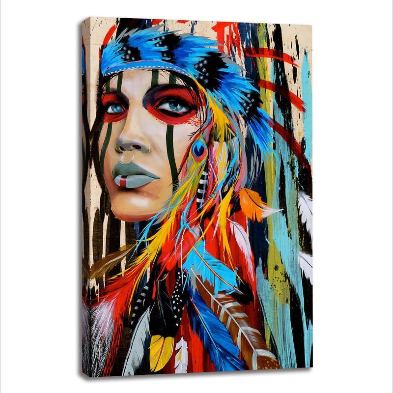 Hindu Poster Art: 1 Panel HD Printed Wall Art Native American Indian Canvas