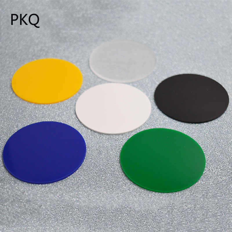 2mm Thickness Round Plastic Transparent Board Perspex Panel Clear Acrylic  Perspex Sheet Color Acrylic Board 6/25/28/30/32cm