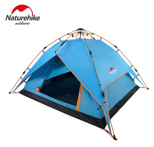 Natuehike Automatic Hydraulic Aluminum Rod Tent Outdoor Camping Hiking Family Tents for 3-4 People NH15Z016-P laputa new car tent canopy manufacturers selling outdoor equipment automotive supplies camping tents for family
