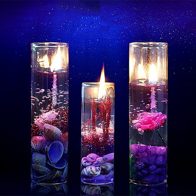 New Art Ocean Jelly Aromatherapy Candles Wedding Valentines Romantic Scented Candle Decoration Random Smokeless Candle  3