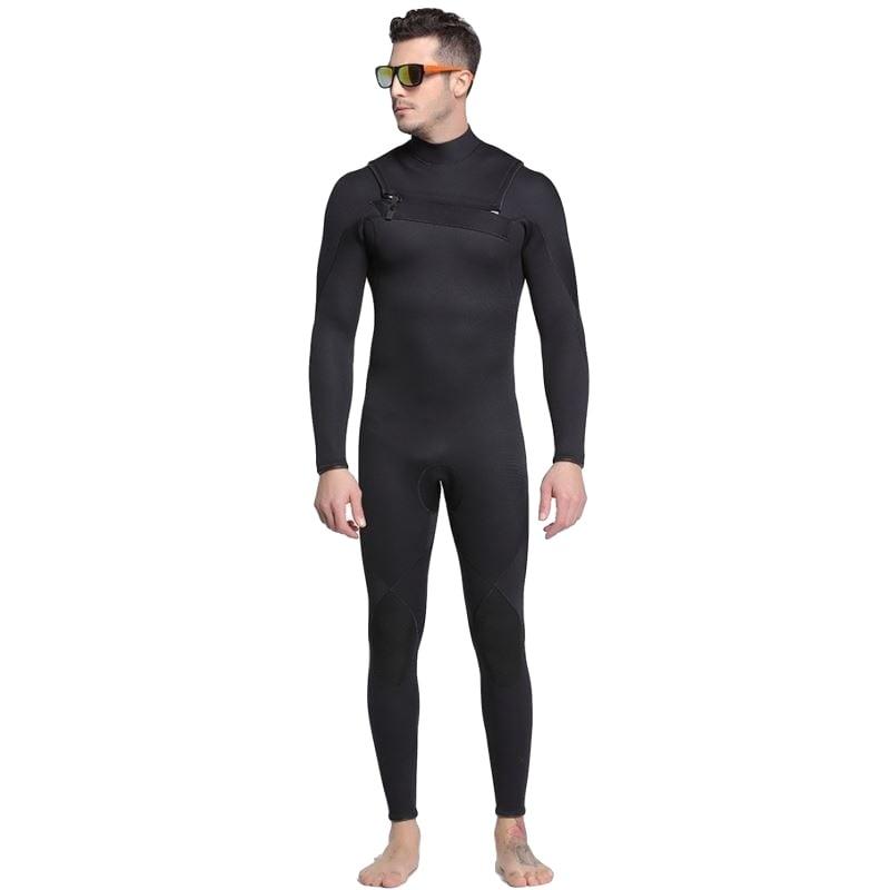 Plus Size Wetsuit 3mm Neoprene Men One Piece Spearfishing Swimsuit Dive Surf Swim Keep Warm Swimwear Long sleeve Beach Triathlon women men spearfishing wetsuit one piece swimsuit 2mm yamamoto diving surf snorkel swim wet suit swimwear long sleeve plus size