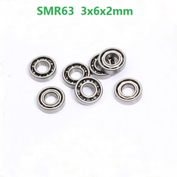 100pcs ABEC-5 SMR63 S673 Open Type Deep Groove Ball Bearing Stainless Steel 3*6*2mm 3x6x2mm