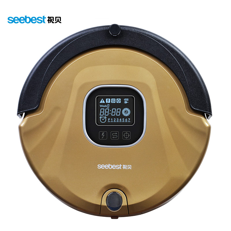 Seebest Robot Vacuum Cleaner Anti Collision Anti Fall Planned Type Cleaning Route LCD Screen HEPA Filter Auto Clean for home