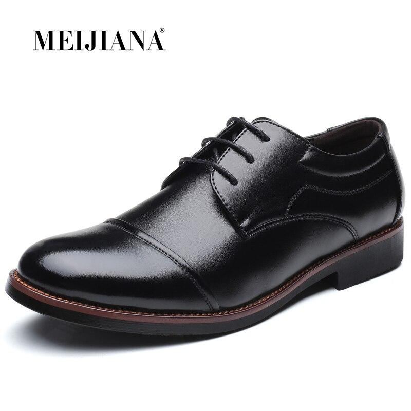 Vestido Sapatos de Couro Sapatilhas Sapatos Homens Sapato Homens Oxfords Formais Sapatos Oxford Sapatos Marrom Preto