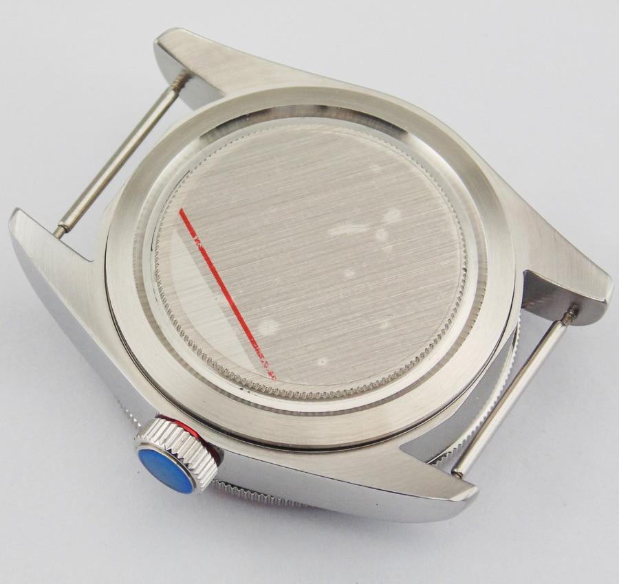 Corgeut 41mm saphir verre rouge lunette boîte en acier inoxydable pour ETA 2836 mouvement mouvement hommes montre P407-in Montres mécaniques from Montres    2