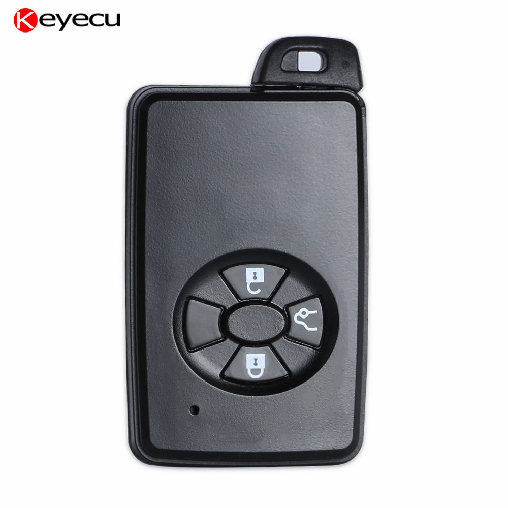 Keyecu 10PCS New Replacement Smart Remote Key Case Key Shell Car Key Cover 3 Button Fob for Toyota,Black цена