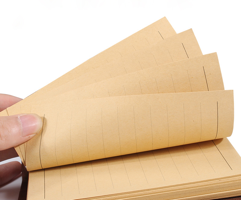 B5 A5 A4 kraft paper, Hole Rings Woodfree paper. blank check lined papers