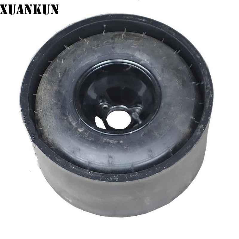 XUANKUN Drift Three Rounds Four Karting Modified Parts 10X4.5-5 Inch Tires Before The Aluminum Wheel + Drift Ring xuankun modified four wheel electric motorcycle self made karting accessories front suspension rocker steering brake system