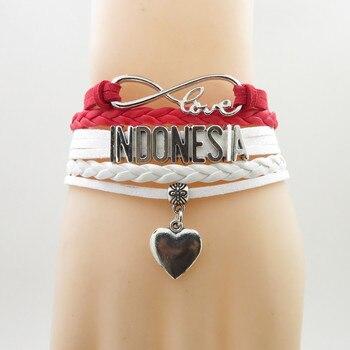 Love indonesia Bracelet Heart Charm