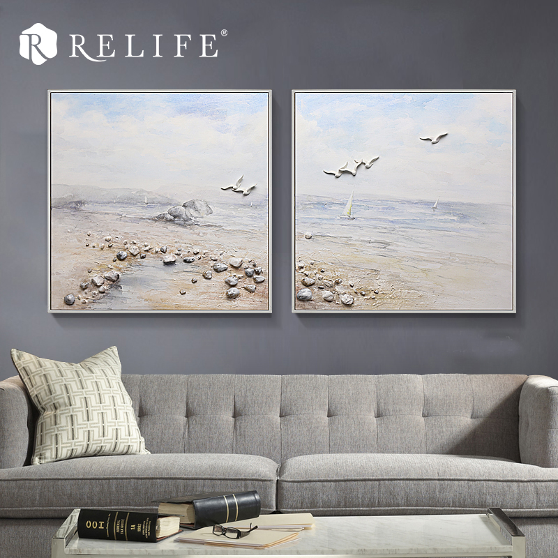 Modular Paintings on the Wall Framed Hand Painted Oil Painting Decorative Wall Art for Bed Room