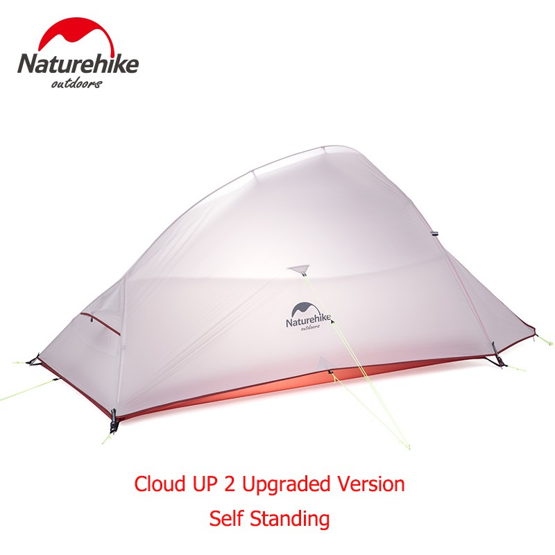 Naturehike Upgraded Cloud Up Series Ultralight Camping Tent Waterproof Outdoor Hiking Tent 20D Nylon  Tent With Free MatNaturehike Upgraded Cloud Up Series Ultralight Camping Tent Waterproof Outdoor Hiking Tent 20D Nylon  Tent With Free Mat