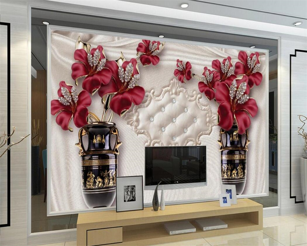 Beibehang Custom wallpaper 3D living room bedroom TV European jewelry flower TV background walls mural wallpaper for walls 3 d roman column elk large mural wallpaper living room bedroom wallpaper painting tv background wall 3d wallpaper for walls 3d